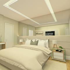 Dormitorios pequeños de estilo  por Livia Vaccari Arquitetura