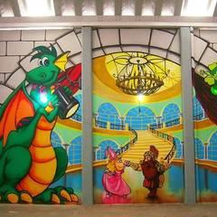 Murales artísticos  infantiles : Salones para eventos de estilo  por DD: ARTE, DISEÑO Y MURALISMO
