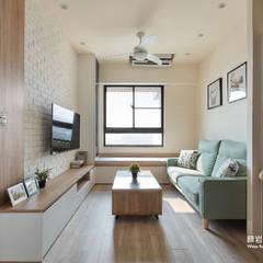 غرفة المعيشة تنفيذ 顥岩空間設計