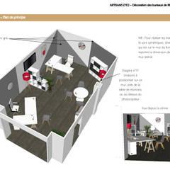 Aménagement intérieur d'un local commercial: Locaux commerciaux & Magasins de style  par ABCD MAISON