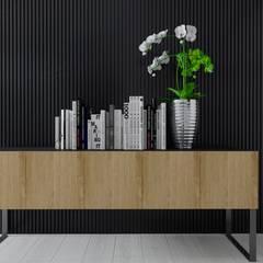 Projekt domu w Pleszewie: styl , w kategorii Domowe biuro i gabinet zaprojektowany przez Interior Koncept Projektowanie Wnętrz