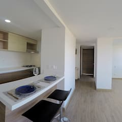 apartamento en Chia-Cundinamarca: Comedores de estilo  por TikTAK ARQUITECTOS, Moderno