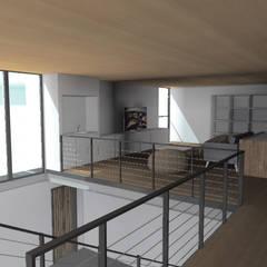 TALLER OFICINA: Dormitorios de estilo  por COMPONENTE