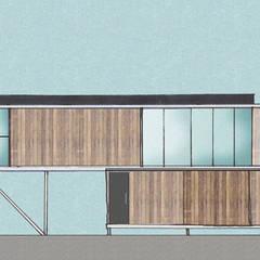 TALLER OFICINA: Casas de estilo  por COMPONENTE