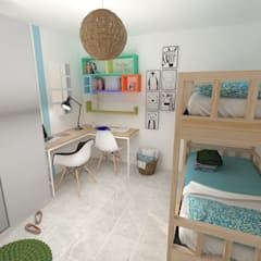Teen bedroom by Akanto Estudio, Modern