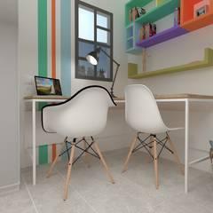 Dormitorio Juvenil Sevilla: Habitaciones juveniles de estilo  de Akanto Estudio