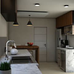 Small kitchens by Miguel Mayorga, Modern