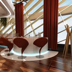 Sia Moore Archıtecture Interıor Desıgn – Roof Bar - Batum / Gürcistan:  tarz Teras