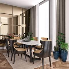 Minimalismo Design – Onur Life Esenyurt:  tarz Yemek Odası
