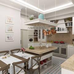 Sia Moore Archıtecture Interıor Desıgn – Bilgah Villa - Baku / Azerbaycan:  tarz Ankastre mutfaklar