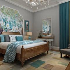 Sia Moore Archıtecture Interıor Desıgn – Bilgah Villa - Baku / Azerbaycan:  tarz Yatak Odası, Eklektik Masif Ahşap Rengarenk