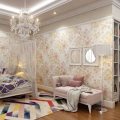 Small bedroom by Sia Moore Archıtecture Interıor Desıgn, Eclectic Solid Wood Multicolored
