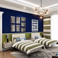 Sia Moore Archıtecture Interıor Desıgn – Bilgah Villa - Baku / Azerbaycan:  tarz Küçük Yatak Odası, Eklektik Masif Ahşap Rengarenk