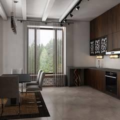 Современный коттедж с нотками шале: Кухни в . Автор – ОИД БАЗИЛИКА,