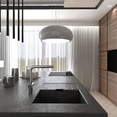 NEW PERSPECTIVE | I | Wnętrza apartamentu: styl , w kategorii Kuchnia zaprojektowany przez ARTDESIGN architektura wnętrz,