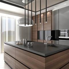 NEW PERSPECTIVE | I | Wnętrza apartamentu: styl , w kategorii Kuchnia zaprojektowany przez ARTDESIGN architektura wnętrz,Nowoczesny