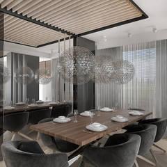 NEW PERSPECTIVE | I | Wnętrza apartamentu: styl , w kategorii Jadalnia zaprojektowany przez ARTDESIGN architektura wnętrz,