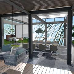 Aussenterrasse in project:  Wintergarten von STYLE-interior design,  Ganal + Sloma