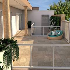 Residencia estilo clássico em Gaia Varandas, marquises e terraços clássicas por PROJETARQ Clássico Mármore