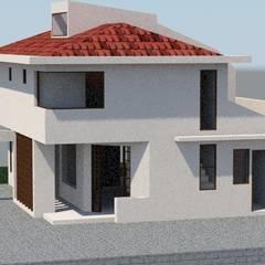Casa Amapolas: Casas unifamiliares de estilo  por MSGARQ