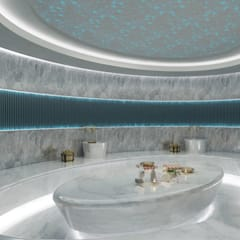 Saunas de estilo  por Sia Moore Archıtecture Interıor Desıgn
