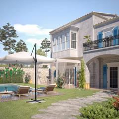 Haciendas de estilo  por Sia Moore Archıtecture Interıor Desıgn,
