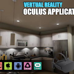 Interactive Virtual Reality Kitchen Design for Oculus Device vr development by Architectural Visualisation Studio, Moscow – Russia:  Kitchen units by Yantram Architectural Design Studio