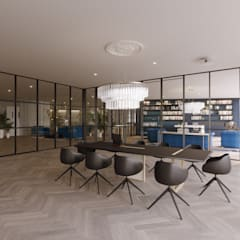 Ruang Kerja oleh Stockholm Barcelona Design - Interioristas en Barcelona, Skandinavia