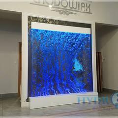 Dancing bubble wall – ściana wodna z kręgami: styl , w kategorii Miejsca na imprezy zaprojektowany przez Hydroteka