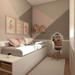 Girls Bedroom by Aizelli Arquitetura