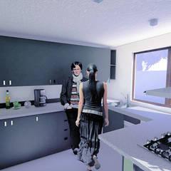 Casa Vitacura: Cocinas de estilo  por RAS Arquitectos
