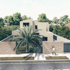 Jardines en la fachada de estilo  por RAS Arquitectos