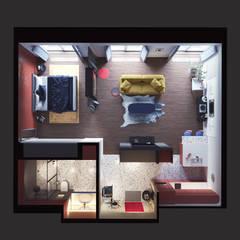 Интерьер квартиры-студии в современном стиле: Полы в . Автор – Дизайнер Фёдор Иванов