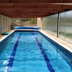Hồ bơi trong vườn by Brassea Mancilla Arquitectos