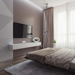 Квартира в ЖК «Кронштадтский»: Спальни в . Автор – 'INTSTYLE', Скандинавский