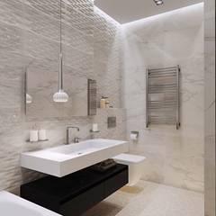 Квартира в ЖК «Кронштадтский» Ванная комната в скандинавском стиле от 'INTSTYLE' Скандинавский