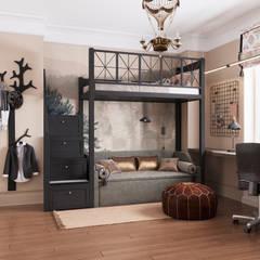 Nursery/kid's room by Дизайн-бюро Анны Шаркуновой 'East-West',