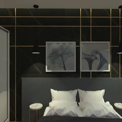 Quarto Minimalista: Quartos pequenos   por Ingrid Santos Arquitetura & Design