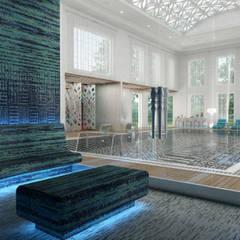 Club House - Doha / Qatar de Sia Moore Archıtecture Interıor Desıgn Ecléctico Mármol