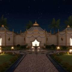 Sia Moore Archıtecture Interıor Desıgn – Ramadan Majlis - Abu Dhabi / BAE:  tarz Müstakil ev