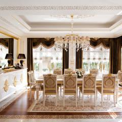 Sia Moore Archıtecture Interıor Desıgn – Bosphorus City Villa - İstanbul / Türkiye :  tarz Yemek Odası