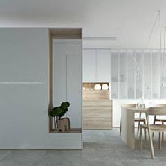 Metamorfoza szeregowca: styl , w kategorii Korytarz, przedpokój zaprojektowany przez ANIEA Andrzej Niegrzybowski architekt