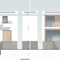 Metamorfoza szeregowca: styl , w kategorii Dom szeregowy zaprojektowany przez ANIEA Andrzej Niegrzybowski architekt