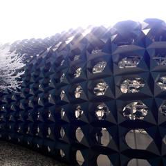 A-04 Pabellón: Jardines de invierno de estilo  por Protoforma, Moderno Metal