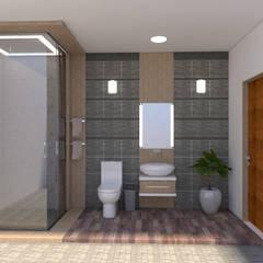 Baño 3d Baños de estilo minimalista de baymac Minimalista