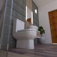 Baño 3d: Baños de estilo  por baymac,