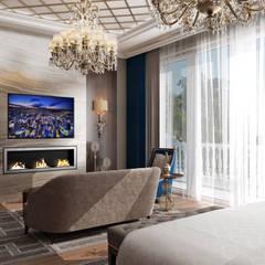 Dormitorios pequeños de estilo  de Sia Moore Archıtecture Interıor Desıgn