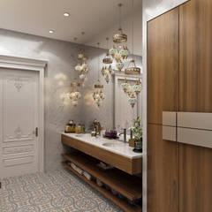 Pasillos y vestíbulos de estilo  por Sia Moore Archıtecture Interıor Desıgn