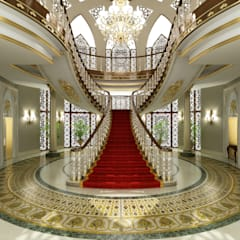 Sia Moore Archıtecture Interıor Desıgn – Pearl Palace - Doha / Katar:  tarz Koridor ve Hol, Klasik Mermer