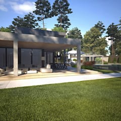 Front yard by Sia Moore Archıtecture Interıor Desıgn, Modern Bricks